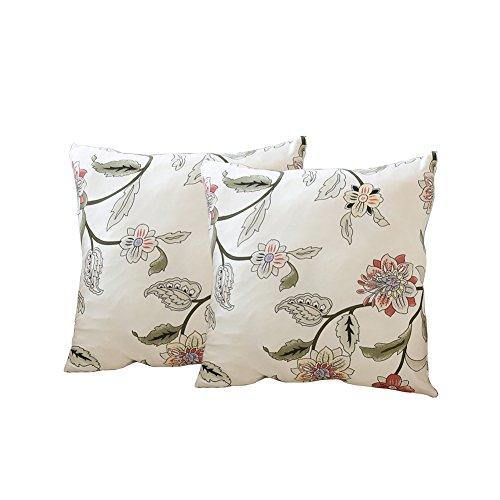 Sofa-Schonbezug, elastischer Stoff, einteilig, Blumen-/Vogelmuster, Hundeschutzbezug für Couch, Stuhl, Sofa und Sessel, 1 Stück, Polyester, Blumenranke, 2 x Cushion Covers (no inner)