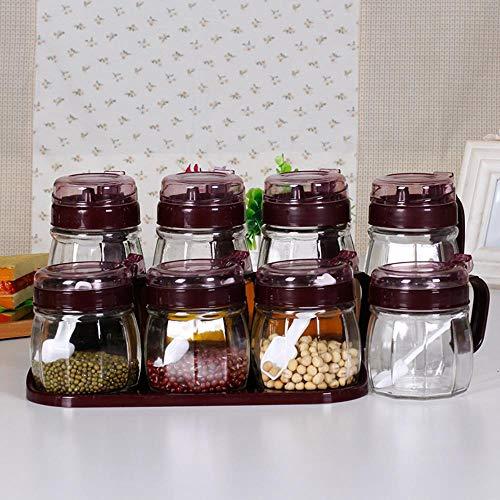 Specerijen kruiden fles dispenser voor het koken, specerijen Set Top Box Creative Set Zes stukken, zout pot kruiden keramische pot kruiden Box,Sol