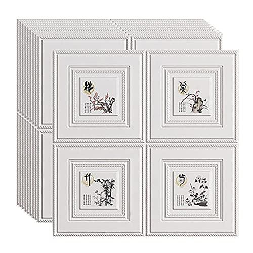 SHUAIGE Láminas de pared 3D de 70 x 77 cm, impermeables, azulejos de pared, azulejos de pared, azulejos de pared, azulejos en 3D (tamaño: 100 unidades, color: 3)