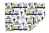 PULP Baby Kissenbezug Kissenhülle 40 x 60 cm mit Reißverschluss aus 100% Baumwolle (Tiere und...
