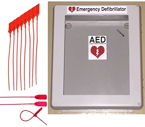 Defibrillator AED Cabinet Box with Window - Weather Resistant Waterproof Enclosure Nema Rated Outdoor/Indoor