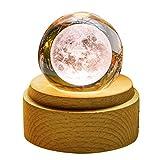 TENGEE 誕生日プレゼント 女性 人気 オルゴール おしゃれ インテリア雑貨 置物 月ライト USB充電 投影 可愛い 癒しグッズ 記念日 結婚祝い (月球-君をのせて)