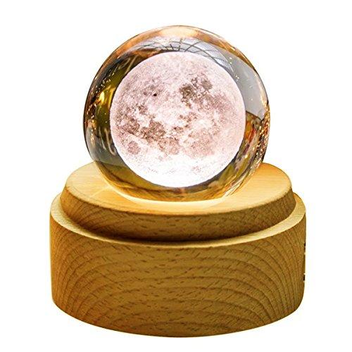 TENGEE 誕生日プレゼント 女性 人気 オルゴール おしゃれ インテリア雑貨 置物 月ライト USB充電 投影 可愛い 癒しグッズ 記念日 結婚祝い (月球-カノン)
