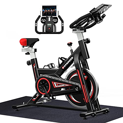 WOWSPEED Exercise Bike, Indoor Cycling Bike, Stationary Bikes with Heart Rate Sensor, Belt Driven Workout bike, Exercise Bike for Home Cardio
