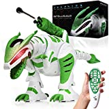 Power Your Fun Intellisaur Remote Control Dinosaur Toy Robot for Kids - Interactive Electronic Pet RC Robot Toy with Touch Sensors to Walk, Talk, Dance, Wag Tail, Launch Darts, T-Rex Roar Battle Mode