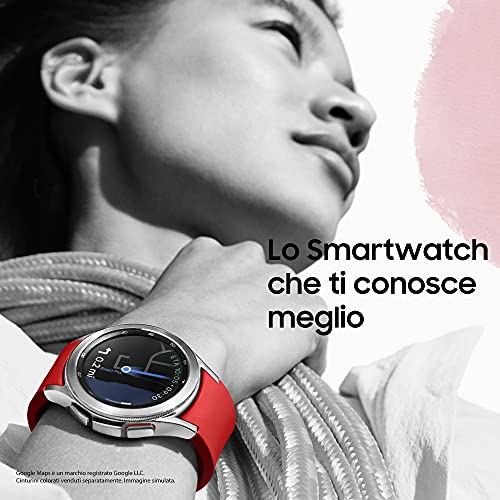 Samsung Galaxy Watch4 Classic LTE 42mm SmartWatch Acciaio Inox, Ghiera Rotante, Monitoraggio Benessere, Fitness Tracker, Silver 2021 [Versione Italiana]