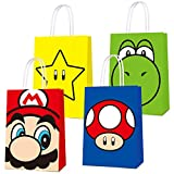 16 PCS Party Favor Bags for Super Bros Mario...