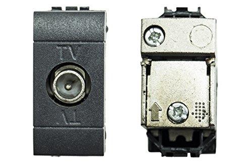 BES 22548 Modulo Compatibile Living, Presa Antenna Tv, Tipo M, Nero