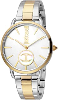 Just Cavalli Logo Silver Dial Stainless Steel Analog Watch For Women, JC1L117M0085