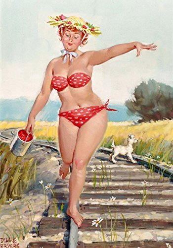 Wall Calendar 2021 [12pages 8'X11'] Hilda Chubby Pinup Redhead Sexy Girl Vintage Pin Up M421
