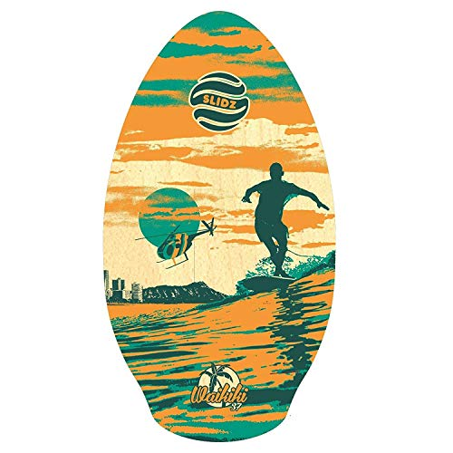SLIDZ Skimboard 37 95cm Waikiki Naranja Verde Skimboard