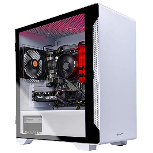 Thermaltake LCGS Glacier 160 CPU Gaming PC (AMD RYZEN 5 3600 6-core, ToughRam DDR4 3000Mhz 16GB RGB Memory, NVIDIA GeForce GTX 1660 Super 6GB, 500GB SATA III, Win 10 Home) S1WT-B450-G16-LCS