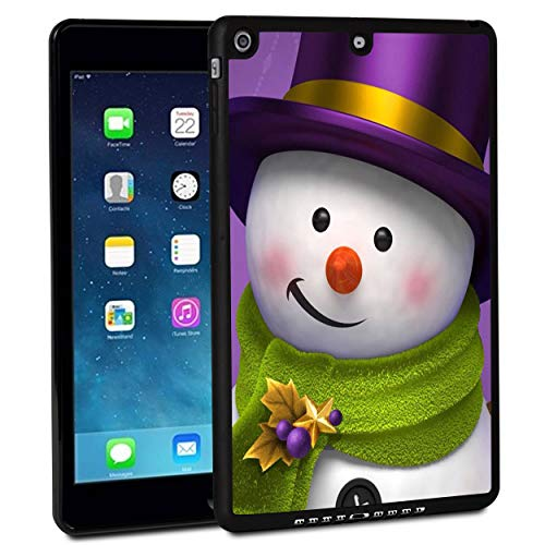 iPad 9.7 Inch 2018 Case,iPad Air 2 Case,Rossy Shockproof Hard Shell Rubber Bumper Protective Case with Holiday Snowman Christmas Pattern and Kickstand for Apple iPad 9.7 Inch 6th Generation