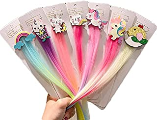 Balaji Box Girls Rainbow Cloud Unicorn Wig Hair Clips for Girls Hair Holder Kids Hairpins Barrettes Girls Hair Accessories...