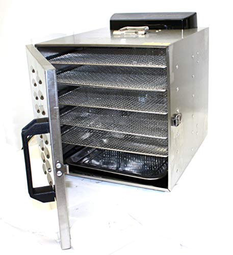 Great Price! 9TRADING Food Dehydrator Fruit Vegetable Meat Drying Machine Snack Dryer 6 Trays Stainl...