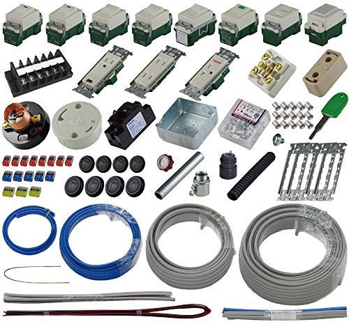 準備万端シリーズ (1回練習分) 第二種電気工事士技能試験練習用材料「全13問分の器具・電線セット」 (2021年度版)
