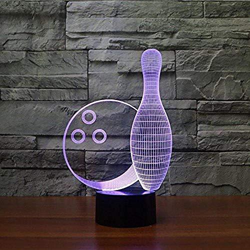 Farbe des Illusions-Nachtlicht-7 führte Visions-Bowlingkugel-Tabellen-optische Bulbing Stimmung USB-buntes kreatives Geschenk Fernbedienung