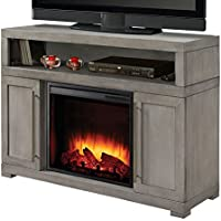 Mackenzie 48 in. Media Electric Fireplace TV Stand (Light Weathered Gray)