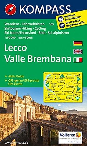 Lecco - Valle Brembana: Wanderkarte mit Aktiv Guide, Radrouten und alpinen Skirouten. GPS-genau. 1:50000. (KOMPASS-Wanderkarten, Band 105)