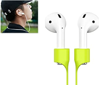 Strap Compatible Airpods,Kupx 2 pack Silicone Anti-lost Strap With Strong Magnetic Adsorption Connector Sports Neck Around Cord Strap Compatible Apple Wireless earphone Airpods Pure White White
