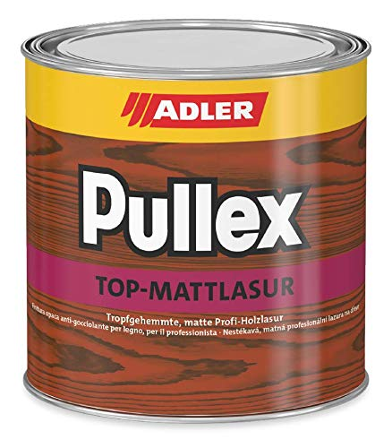 ADLER Pullex Top-Mattlasur - Kastanie 2,5 L - Matte, tropfgehemmte, dünnschichtige Holzlasur für den Außenbereich