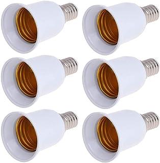 BESLIME 6piezas Casquillo de Lámpara Adaptador, E14 a E27 LED Adaptador de enchufe de lampara Casquillo de bombilla, Adecuado Para LED Halógena y de Ahorro Energético