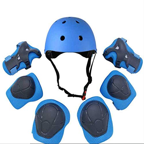 miaomimi Children's Helmet and Pad Cover. Adjustable Helmet Knee and Elbow Wrist Guards For Bicycle Skating and Scooters For Boys and Girls From 2 To 10 Years Old