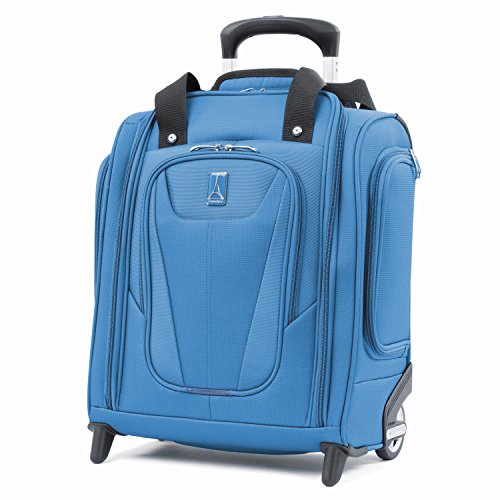 Travelpro Maxlite 5-Rolling Underseat Compact Carry-On Bag, Azure Blue, 15-Inch