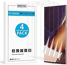 OMOTON [4 pack] Samsung Galaxy Note 20 Ultra Screen Protector - TPU Film Screen Protector for Galaxy Note 20 Ultra 6.9 Inch, 2020 [High Definition] [Bubble Free] [Anti-scratch] [Anti-Fingerprint]