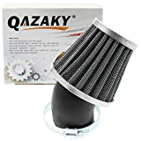 QAZAKY 38mm 39mm 40mm 1.5inch Air Filter Cleaner 45 Degree Angled for 50cc 70cc 90cc 110cc 125cc 150cc 200cc Motorcycle ATV Quad Scooter Gokart Moped Chopper Pit Dirt Pocket Mini Super Bike GY6 1.5in