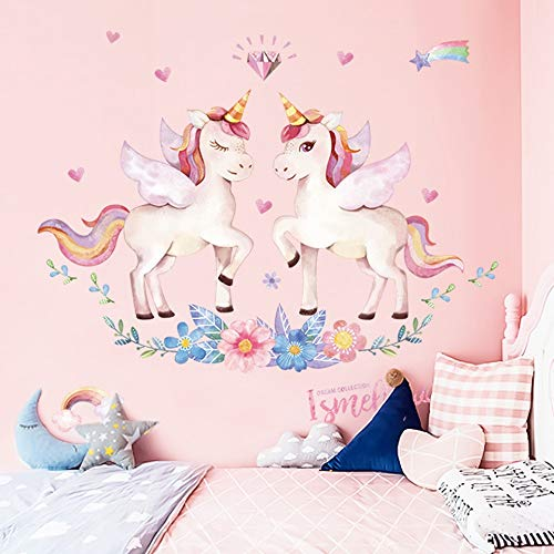 youjiu Habitaciones para niños Dormitorio de niñas Decoración DIY Cartel Dibujos Animados Animal Papel Pintado Pegatinas en la Pared