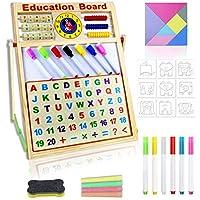 Tuokeogoh Educational Learning Easel Whiteboards & Chalkboard Toys