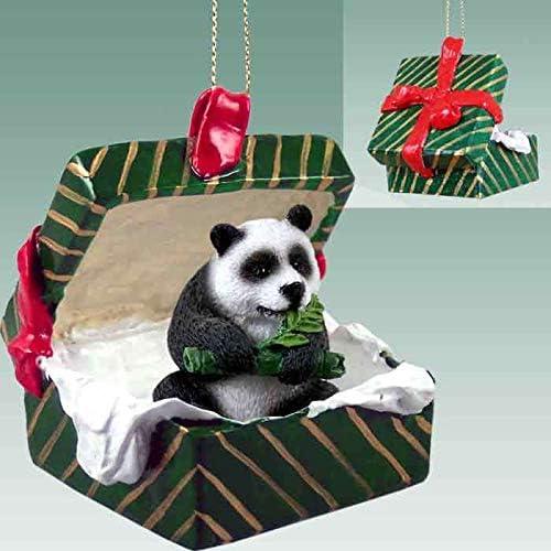 Amazon Com Panda Bear Gift Box Christmas Ornament Delightful Home Kitchen