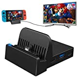 TV Docking Station for Nintendo Switch, WEGWANG Portable TV Dock Station Replacement for Official Nintendo Switch with HDMI and USB 3.0 Port (HDMI CABLE IS NOT INCLUDED)