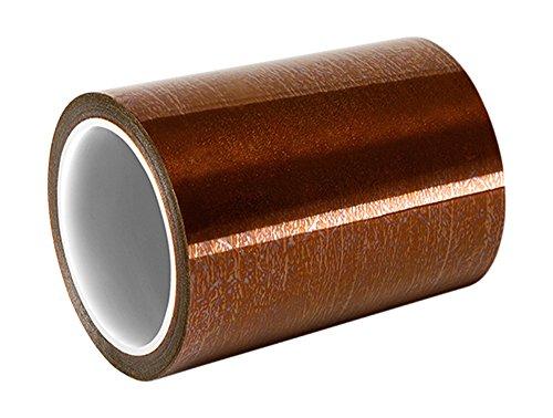 TapeCase 1218 Polyimid-Klebeband mit Acryl-Klebstoff, 4,8 cm x 36 m, bernsteinfarben Polyimid-Folie, umgewandelt von 3M 1218, 91,4 cm Länge, 4,8 cm Breite, Rolle