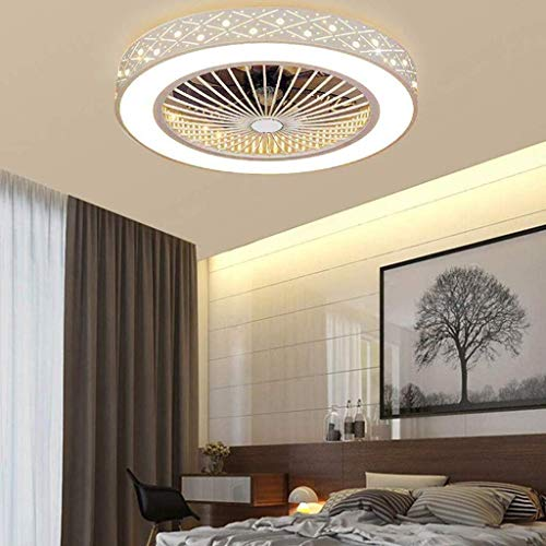 Ganeep Moderne kreative Wohnzimmer Schlafzimmer Büro NurseryLighting dekorative LED Deckenventilator mit Fernbedienung Deckenventilator mit Beleuchtung Energiesparlüfter Licht