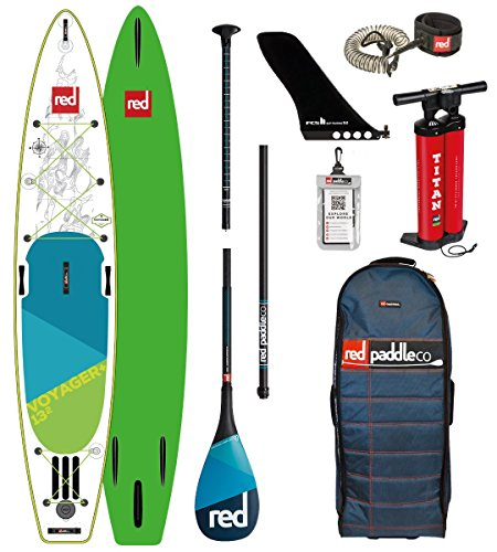 Red Paddle Co - SUP Stand Up Paddle Boarding - Voyager 13';2 Aufblasbares Stand Up Paddle Board + Tasche, Pumpe, Paddel & Leine
