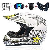 Erwachsene Rockstar Motocross Helm Geschenke Brille Maske Handschuhe Moto Rennen voller Gesicht Helm...