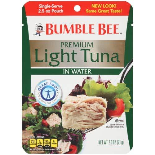 Bumble Bee Premium Light Tuna in Water 2.5 Oz (Pack of 6)
