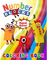 Magical Places! - Numberblocks Coloring Book: A Great Gift Book For Kids And Fans With Cute & Adorable Illustrations