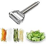 DenSan KG1009 Stainless Steel Julienne Peeler & Vegetable Peeler Multifunction Double-sided Blade...