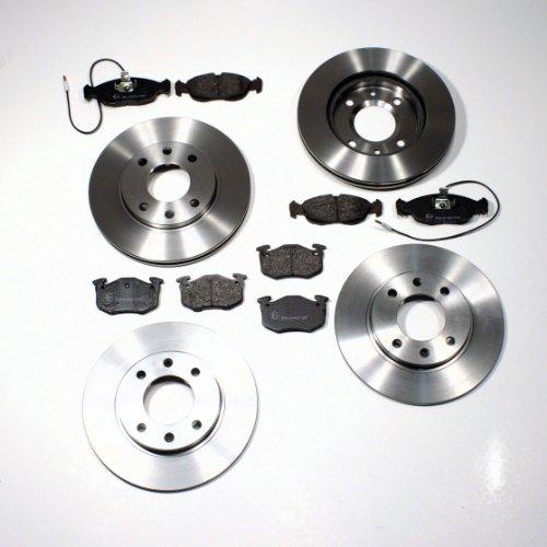 Bremsscheiben/Bremsen Set + Bremsbeläge vorne + hinten