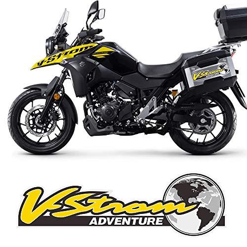 スズキVストロームDL 1000 650 250 1050 XT、アドベンチャーツアラーオートバイステッカータンクパッド荷物ボックスケース