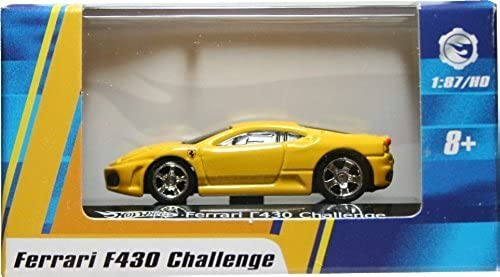 1 87   HO SCALE FERRARI F430 CHALLENGE (Gelb) Hot Wheels Vehicle & Acrylic Display Case by Hot Wheels