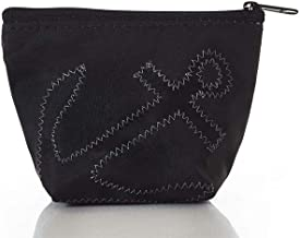 product image for Sea Bags Black-on-Black Anchor Small Cosmetic Bag