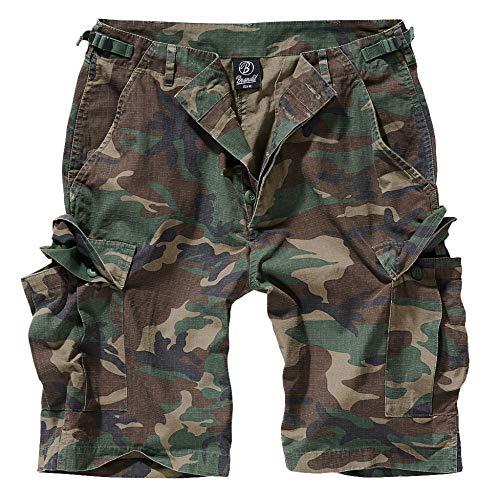 Brandit BDU Ripstop Short Pantalones Cortos Camuflaje Oscuro