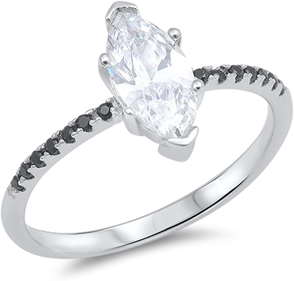 CHOOSE YOUR Philadelphia Mall COLOR Sterling Japan Maker New Wedding Ring Silver Solitaire
