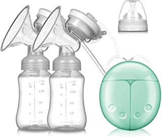iZiv Electric Double Breast Pumps, Breast Pump Safe Milk Storage Bottle Dual Control Milk Suction and Breast Massager Brea...