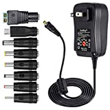 [Upgraded Version] SoulBay 30W Universal AC/DC Adapter Switching Power Supply with 8 Selec...