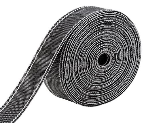 IPEA Correa Rígida Multiusos de Nailon – 15 metros – Cuerda para Tapicería, Muebles, Mudanzas, Sillones, Dofás – Usos Diferentes y Manualidades– Color Gris – 50 mm